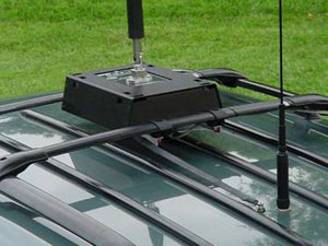 Gary Did A Great Job Of Turning The QMS Into A More Permanent Installation.  The Roof Rack Mounting Looks Good And Is Very Flexible.